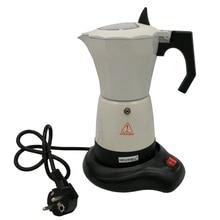 220 v zu 240 v 480 watt 300 ml 6 tassen elektrische kaffeemaschine aluminium kaffee wasserkocher kaffee topf elektrische mokkakännchen