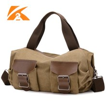 New 2016 Women durable canvas travel bags Khaki Handbags with shoulder belt male's canvas big luggage handbag travel bags bolsas