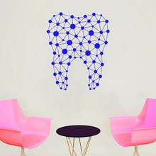 dental clinic Geometric patterns wall decal Decorative decals for Parlor of removeable vinyl sticker G598