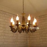 8 Огни Современная люстра Античная Латунь цвет освещения современные украшения лампа исследование светлая спальня лампа