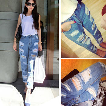 Aliexpress.com : Buy Hot 2015 New fashion casual washed Blue big ...