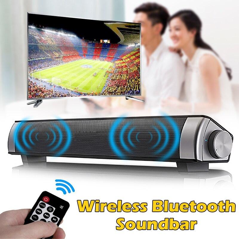 Portable TV haut-parleur barre de son sans fil bluetooth 4.0 barre de son TV 3D stéréo Subwoofer haut-parleur Home cinéma haut-parleurs Audio