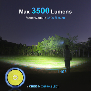 Image 2 - LUMINTOP  Rechargeable High Intensity  Flashlight ODF30C  Floodlight Design Max 3500  Lumens   IP68 Waterproof  for Hiking ,Ride