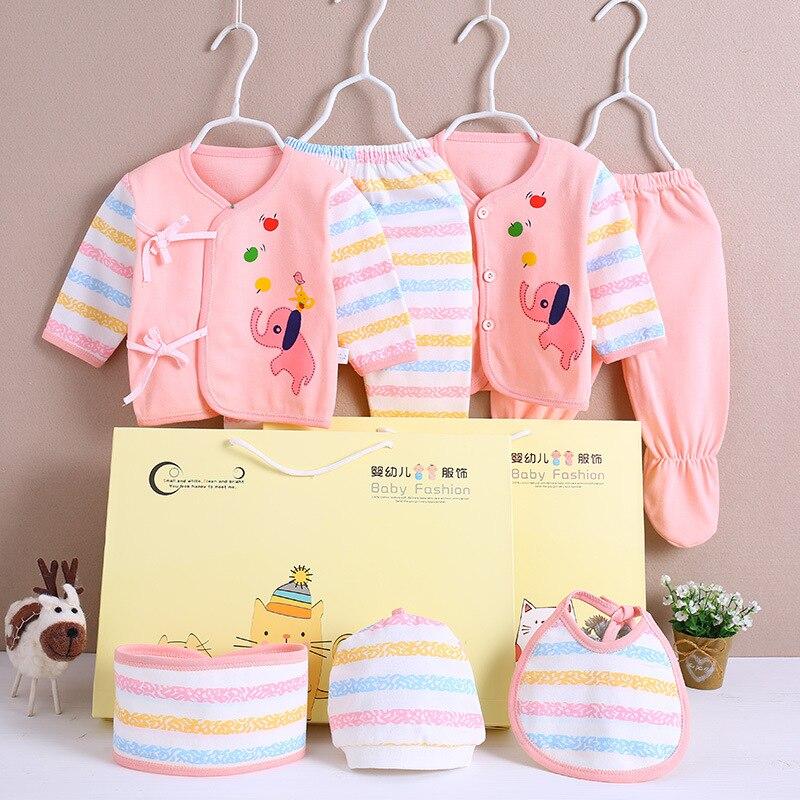 4a4666adb Conjunto de ropa para recién nacidos 100% algodón dibujos animados elefante  ropa interior 0-3 ...