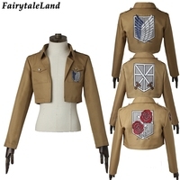 Attack on Titan Jacket Halloween costume cosplay Shingeki no Kyojin Rival Ackerman Cosplay Jacket Dot Pixis Mikasa Rivaille coat