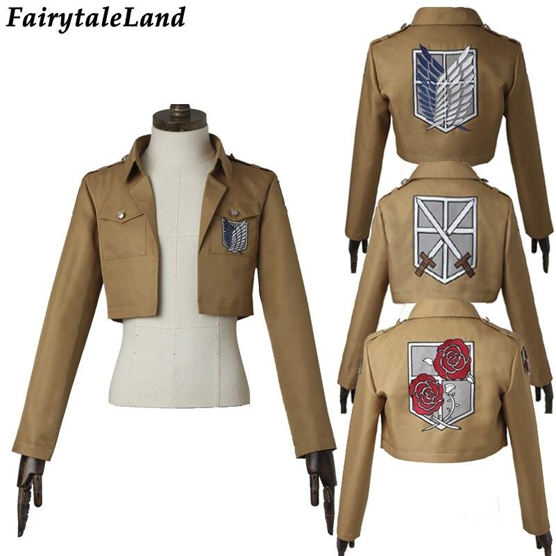 Attack on Titan Jacket Halloween costume cosplay Shingeki no Kyojin Rival Ackerman Cosplay Jacket Dot Pixis Mikasa Rivaille coat