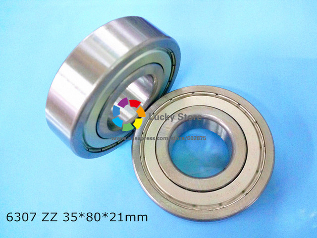 6307ZZ 1Piece bearing free shipping chrome steel deep groove bearing 6307 ZZ 35*80*21mm