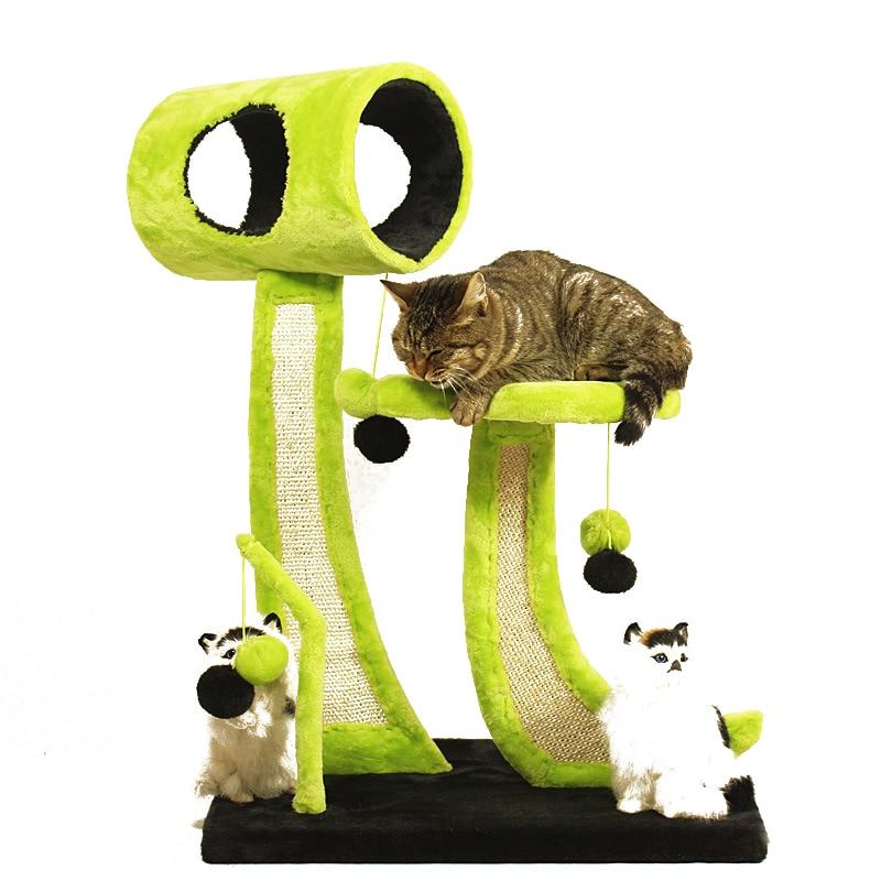 Creative Pet meubles maison pour chats arbre escalade Sisal chat griffoir Post arbre tour griffage jouet chat étagère plate-forme sautante