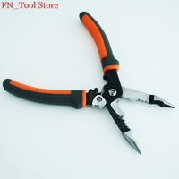 Free Shipping Multi Function 5 In 1 Electric Needle Nose Pliers Wire Stripping Cutting Wire Crimping