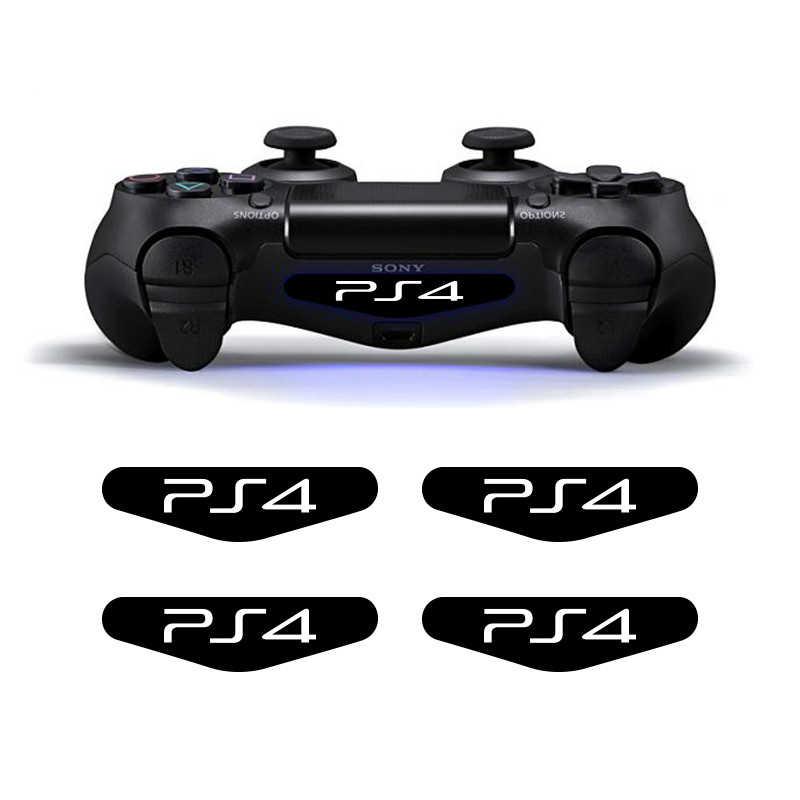 4 قطعة/الوحدة LED PS4 تحكم ضوء ملصقا شريط مخصص ملصقات للبلاي ستيشن Gampad المراقب الجلد ل PS4 تحكم الثنائيون