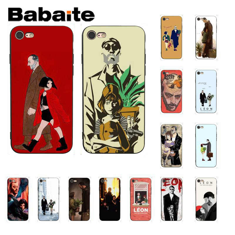 Babaite Leon Matilda Natalie Portman Movie Poster Capa Phone Case for iPhone8 7 6 6S Plus X XS MAX 5 5S SE XR 11 11pro 11promax