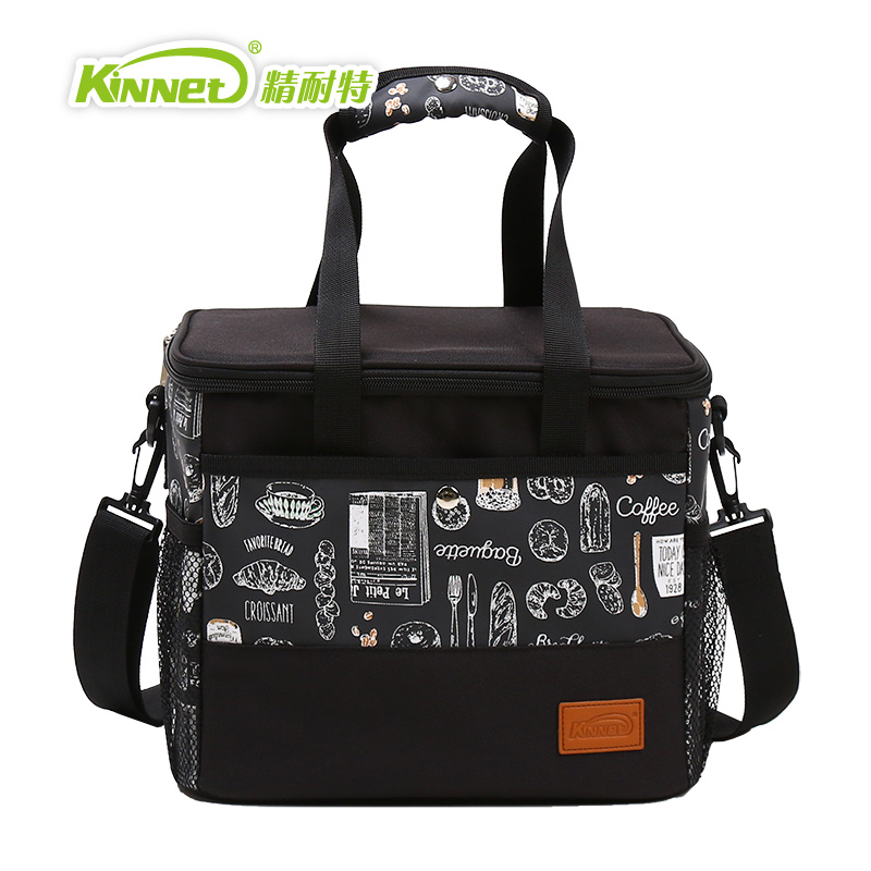 цена на KinNet Cooler bag five ice pack Thermal insulation bag Fabric of Oxford aluminum foil liner 12L portable fresh-keeping Lunch bag
