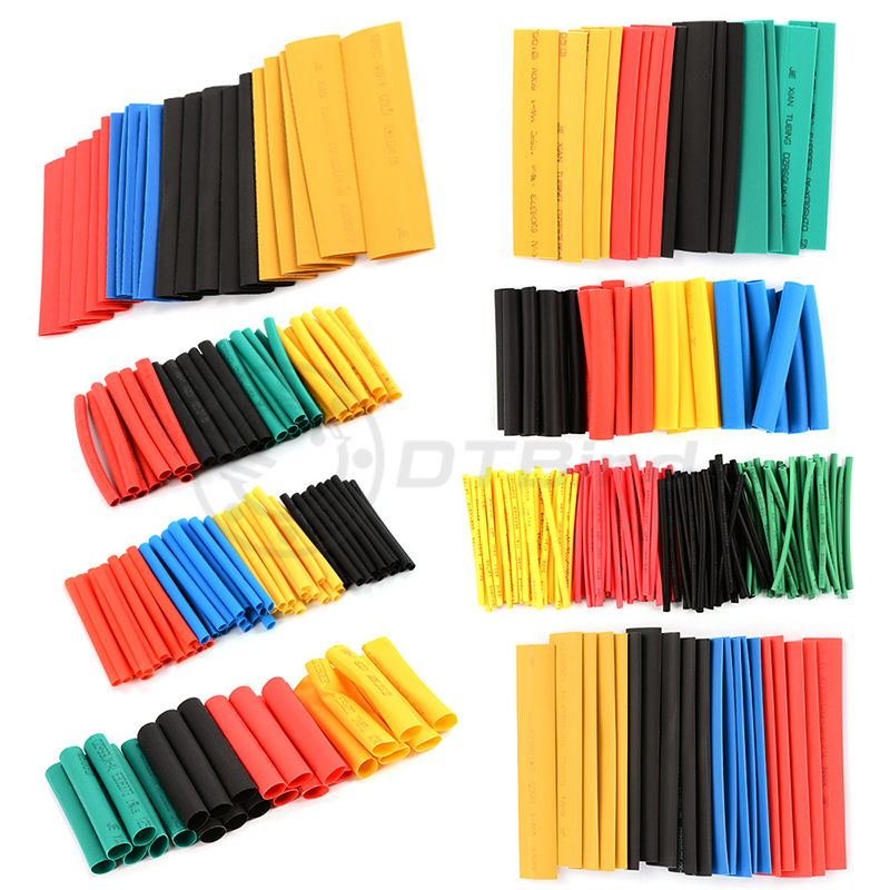 Image 3 - 328Pcs/Lot Polyolefin Assorted Heat Shrink Tubing Insulation Shrinkable Tube Wrap Wire Cable Multicolor Tools-in Tool Parts from Tools