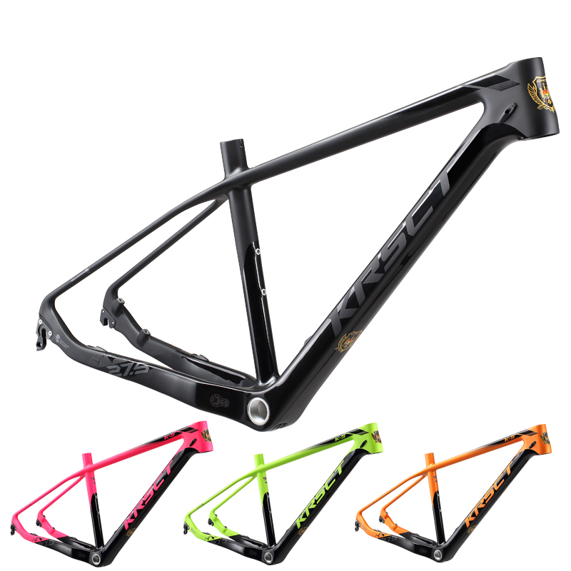 KRSEC full carbon fiber mountain bike frame MTB 26/27.5/29er 15.5/16.5/17.5matte bicycle frames Cycling Parts colorful new asiacom full carbon fiber cycling bicycle crank mtb road bike crankset length 170mm ultra light mountain bicycle parts