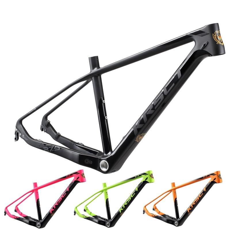 KRSEC Full Carbon Fiber Mountain Bike Frame MTB 26/27.5/29er 15.5/16.5/17.5