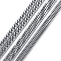 5/6/7/8/9mm Silver Curb Mens Chain Boys Stainless Steel Necklace Fashion Jewelry