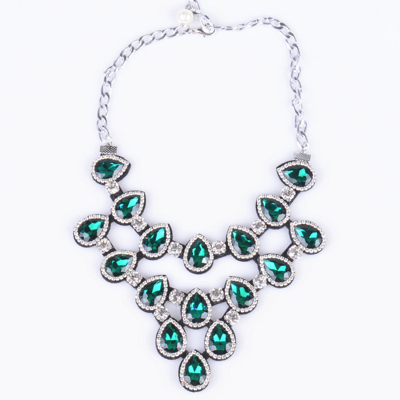 new arrived handmade crystal romantic style collier necklace & water drop Colourful trendy choker collar necklaces for women