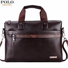 Vicuna polo promoção dot simples famosa marca homens de negócios maleta bolsa para laptop de couro homem bolsa de ombro bolsa maleta saco de luxo(China (Mainland))