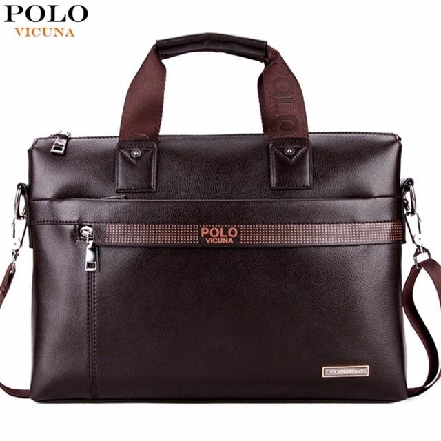 Vicuna polo promoção dot simples famosa marca homens de negócios maleta bolsa para laptop de couro homem bolsa de ombro bolsa maleta saco de luxo