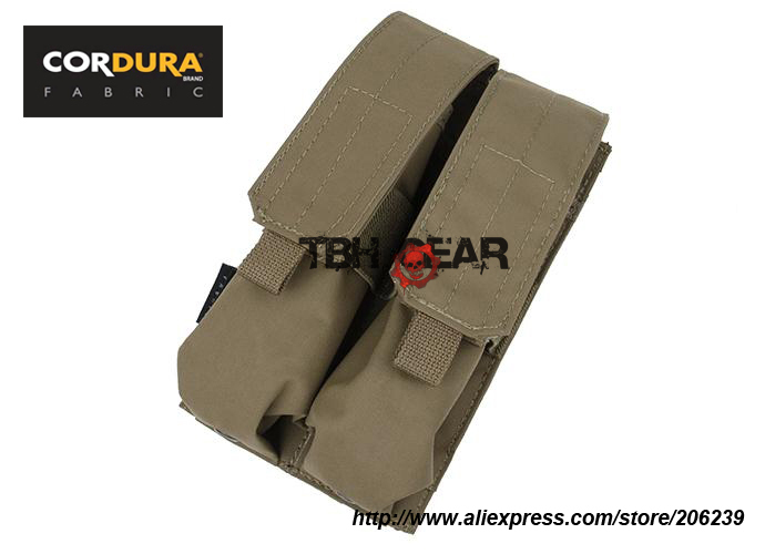 TMC MP7A1 Double Magazine Pouch BK,RG, Coyote Brown 500D Cordura MP7 Mag Pouch+Free shipping(SKU12050642)