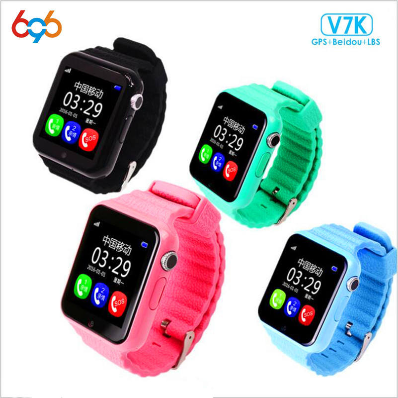 696 Children Security GPS Smart watch V7K 1.54 Screen With Camera facebook SOS Call Loca ...