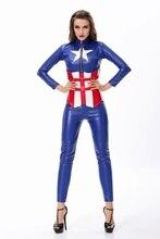 Disfraces de halloween para adultos mujeres mujeres captain america the avengers warrior cosplay traje traje ds
