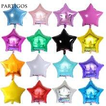 10 шт/лот 18 дюймовый надувной Гелиевый шар со звездами украшение