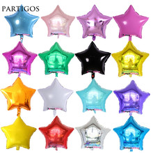 10pcs/lot 18inch Star Balloon Inflatable Helium Baloon Wedding Birthday Christmas Party Decoration Globos Children Toy Gifts