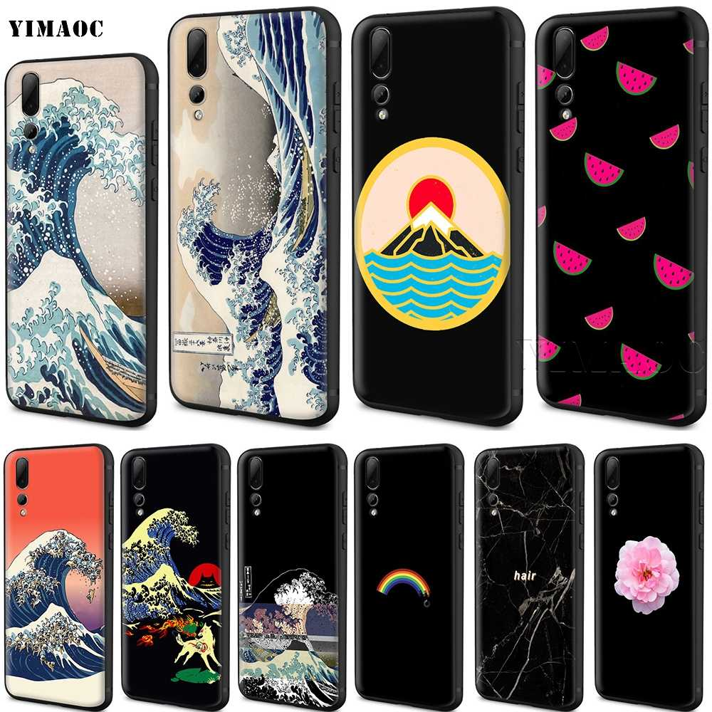 YIMAOC The Great Wave off Kanagawa Japanese Silicone Case for Huawei Mate 10 P8 P9 P10 P20 Lite Pro P Y7 Y9 Smart Mini 2017 2018
