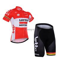 2016 new Lotto Cycling Jersey Sets Ropa Ciclismo/Breathable Racing Bike Cycling Clothes/Quick-Dry Mountain Bike Clothes shorts