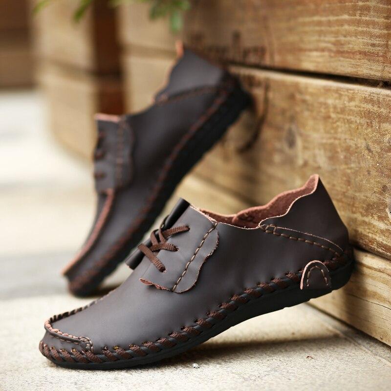 Alta Calidad de Los Hombres de Cuero Zapatos de Hombre de La Manera Zapatos Del