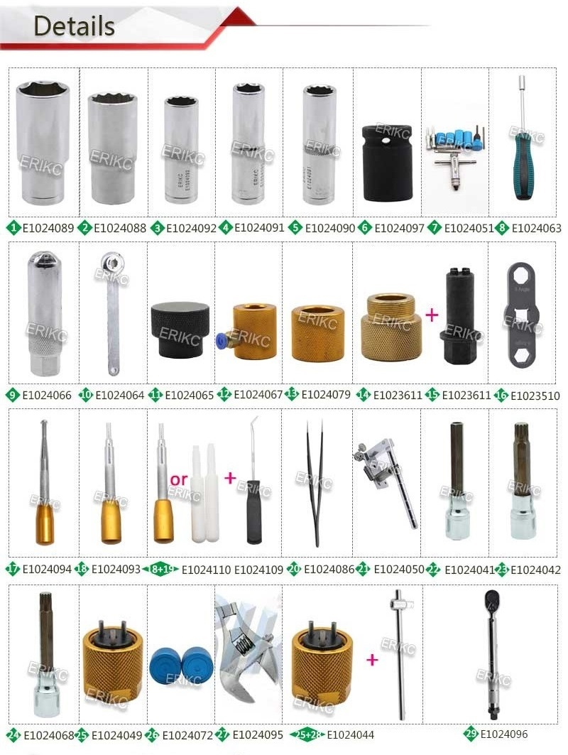 ERIKC Liseron Diesel Injector Removal and Common Rail Injectors Repair Tools Assemble Disassemble Tools for CR Injectors (10) - 副本 - 副本 - 副本