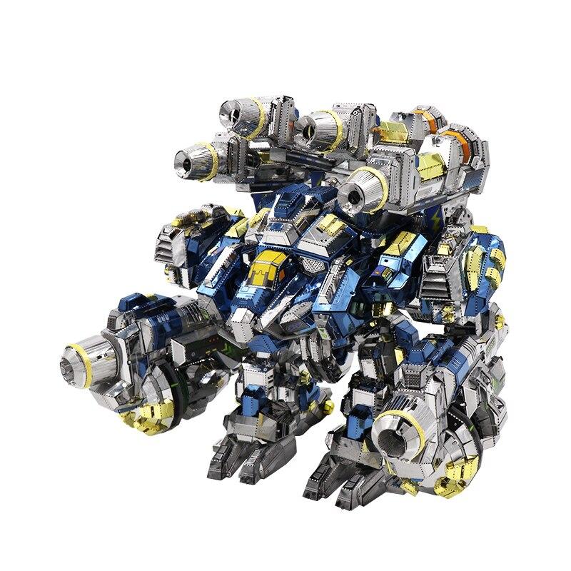 MMZ modèle MU 3D métal Puzzle étoile artisanat Thor armure YM-N020 Joint mobile modèle bricolage 3D coupe Laser assembler des jouets de Puzzle pour