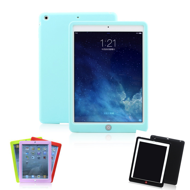 for Ipad Mini 1 2 3 Tablets Case Cute Candy Color Soft Silicone Cover Fashion Slim Lovely Protective Holster for ipad air 1 2 cute candy color soft silicone tablet case cover for ipad 5 6 mini 2 3 fashion slim lovely protective sleeve
