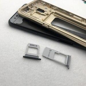 Image 4 - Per Samsung Galaxy A8 Più 2018 A730 A730F Alloggiamento Pieno Medio Frame Lunetta in metallo Housing Telaio A8 + Batteria di Vetro della Copertura posteriore