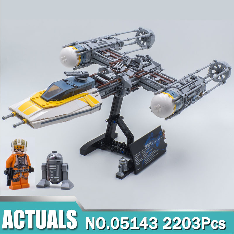 Star 05143 Wars the Y wing Starfighter Set Compatible with 75181 Building Blocks Bricks Toys For
