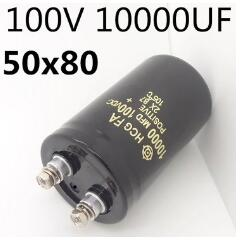 FREE SHIPPING Electrolytic capacitor 100V 10000UF 10000MFD volume 50* 80mm screw feet бусы из муранского стекла и кахолонга мурано мст 9871