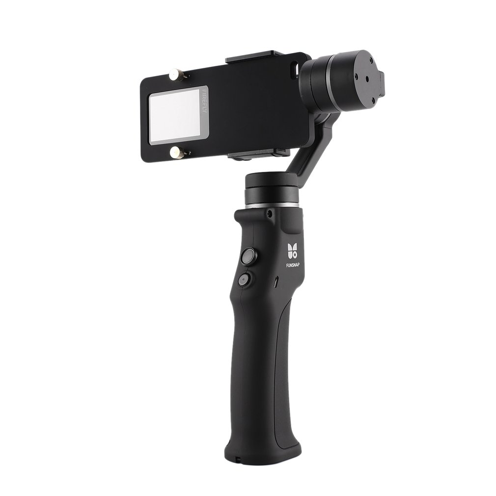 Funsnap Capture Smartphone Brushless Stabilizer Handheld 3 Axis Gimbal with Clip Adapter Two Battery for GOPRO/Xiaomi YI Cam