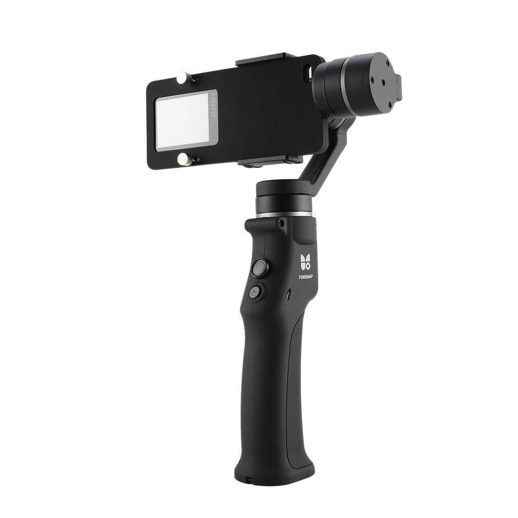 Funsnap di Acquisizione Smartphone Brushless Stabilizzatore Tenuto In Mano 3 Assi del Giunto Cardanico con la Clip Adattatore Due Batteria per GOPRO/Xiaomi YI cam