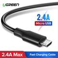 Ugreen מיקרו USB כבל 2.4A מהיר טעינת USB כבל נתונים טלפון נייד כבל טעינה עבור סמסונג Huawei HTC אנדרואיד Tablet כבל