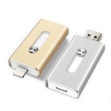 USB Flash Drive 16GB 32GB 64GB For iPhone 7 7 Plus 6 5 5S Lightning to Metal Pen Drive U Disk for iOS10 memory stick 128GB IOS9