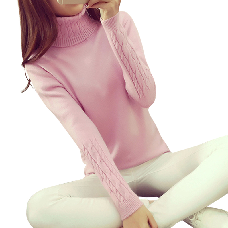 Femininas Mujeres de la Camisa Del Suéter Mujer Suéteres de Manga Larga Slim Fi