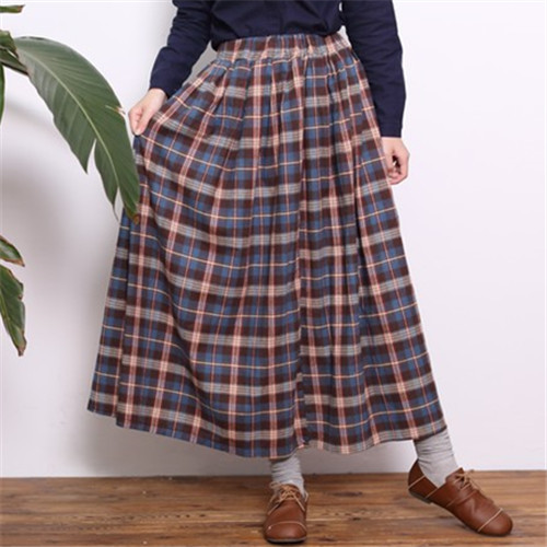 Online Get Cheap Women Plaid Long Skirt -Aliexpress.com | Alibaba ...