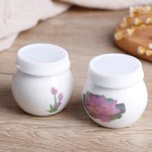 Tasse à ongles en céramique transparente, verre imprimé fleur, poudre de verre liquide, verre de cristal, pour Nail Art en acrylique, 1 pièce