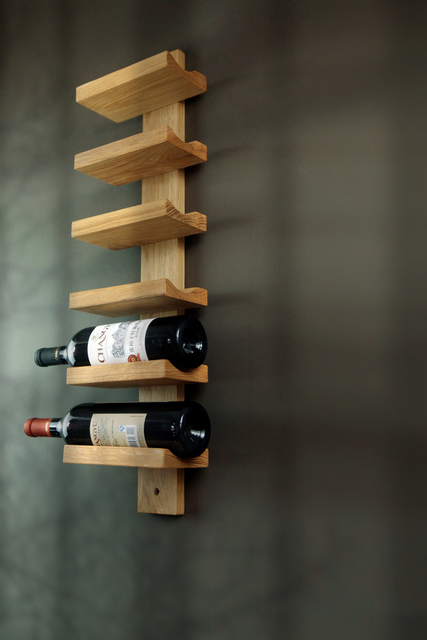 The New Modern Minimalist Ikea Rural Countryside Green Pine Wood Wine Racks  Wall Mounted Wine Rack