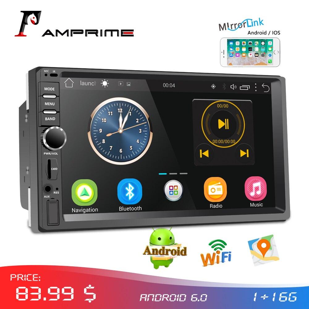 AMPrime autoradio 2din Android Audio multimédia lecteur GPS Navigation 7