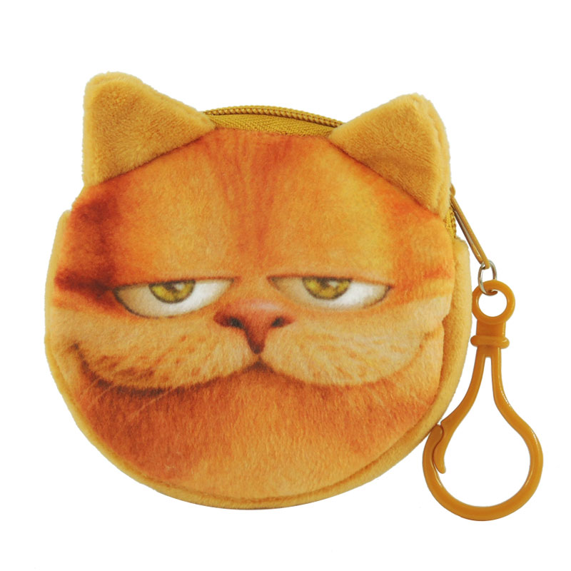 XYDYY Kawaii Cartoon Garfield Prints Women Coin Purses Portable Zipper Storage Money Pouch Children Plush Wallets Mini Purse Bag cute girl hasp small wallets women coin purses female coin bag lady cotton cloth pouch kids money mini bag children change purse