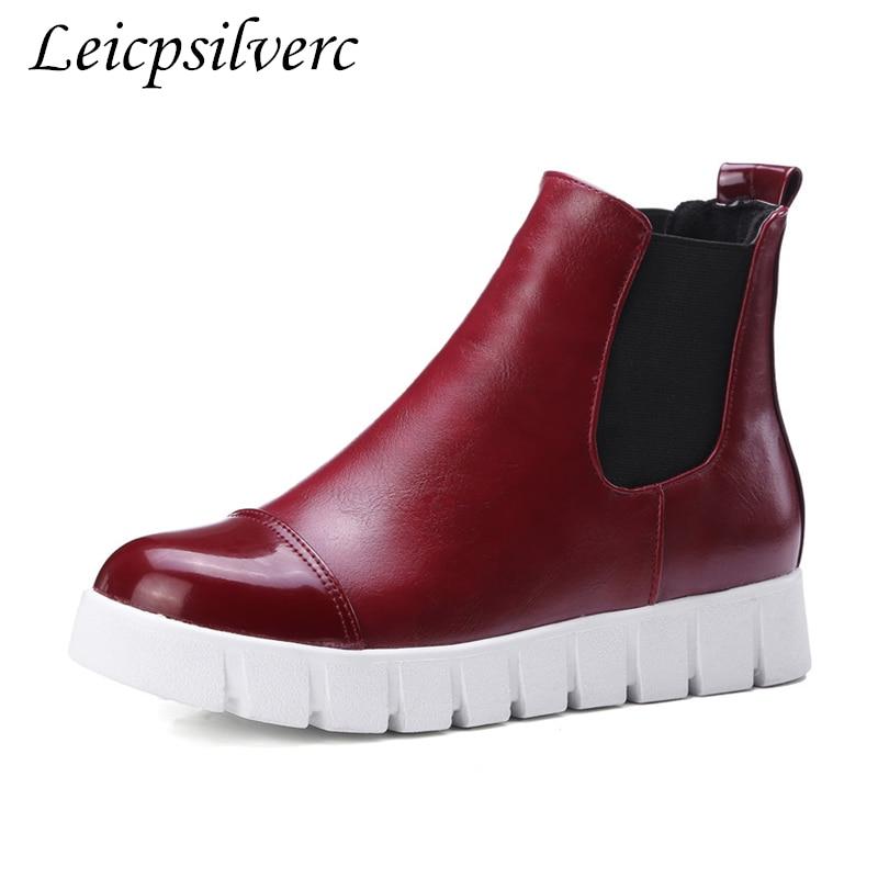 La À Plus Taille Chaussures Pu Fine De 6plush Femmes Talons Bottes 1 Zipper Hiver 2 3 Jeunes 5plush 43 4plush Courtes Plat Hauts 34 Talon nkP8OX0w