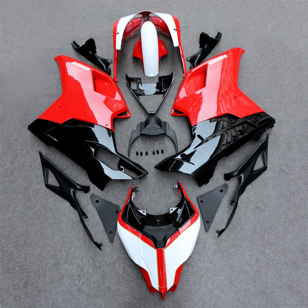 fairing bodywork panel kit set fit for ducati 848 1098 1198 2007 2012 motorcycle [ 1000 x 1000 Pixel ]