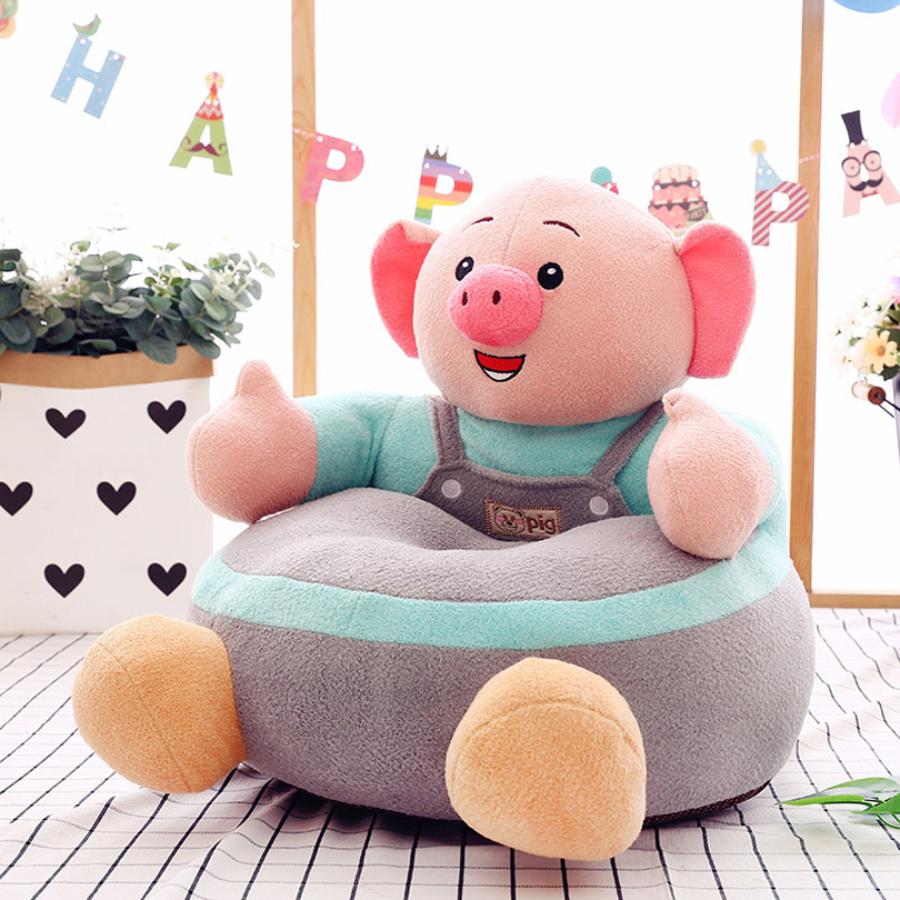 New Cartoon Children's Lazy Sofa Baby Seat Plush Toy Creative Children's Birthday Present Chair For Kids  Kids Sofa